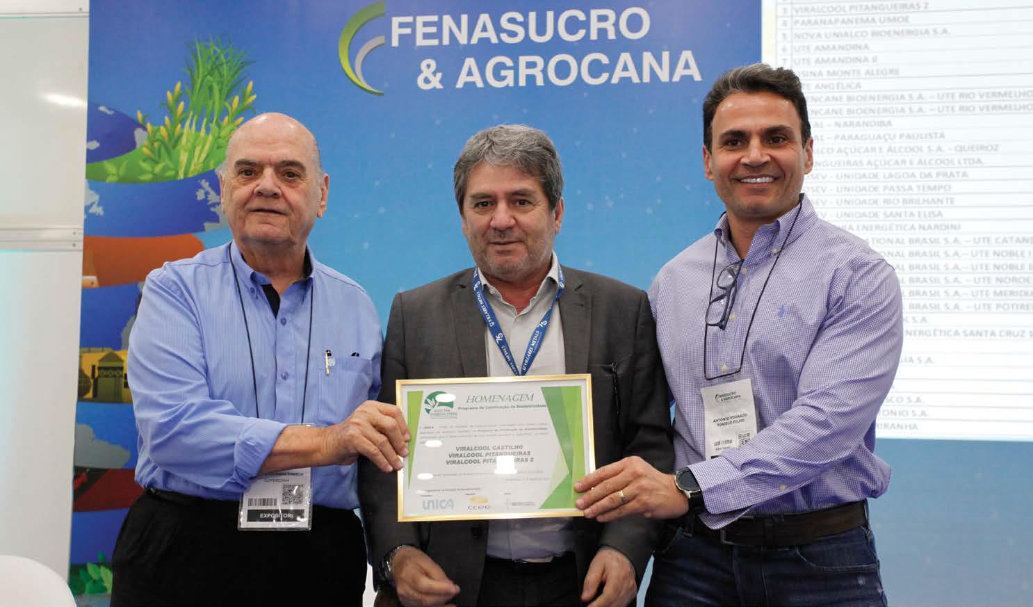 Selo Energia Verde: Viralcool é homenageada na Fenasucro