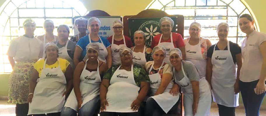 Nos dias 27 e 28 de abril foi realizado um curso de técnicas de culinária regional na Sede Social da Viralcool, em Viradouro.